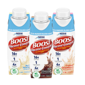 BOOST Glucose Control® drink bottles in Chocolate, Vanilla and Strawberry