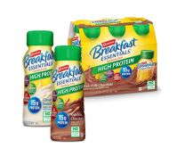 Carnation Breakfast Essentials® High Protein Instant Breakfast Shake bottles in Chocolate and Vanilla flavors