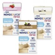 Novasource® Renal formula containers in Vanilla, Strawberry and Cafe Mocha flavors