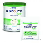 Nutrisource® Fiber Supplement unflavored food and drink mix in container and individual serving packet